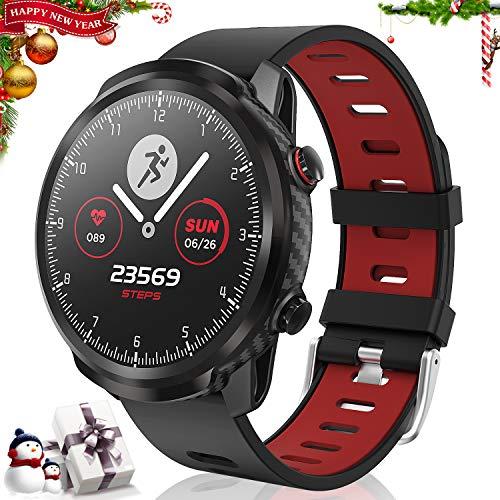 CatShin SmartWatch,Smart Watch Touchscreen Fitness-Tracker wasserdichte Uhr mit Herzfrequenzmesser Schrittzähler…