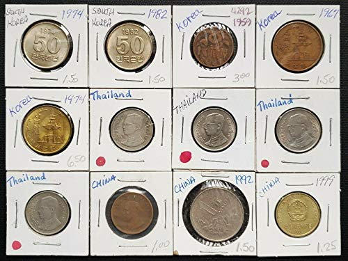 LOT OF 12X VARIOUS ASIAN FOREIGN COINS VARIOUS DATES AND DENOMINATIONS