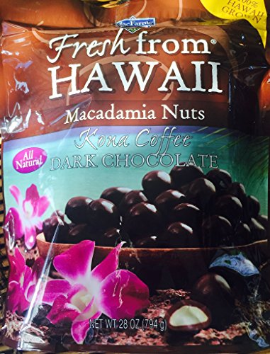 MacFarms Kona Coffee Dark Chocolate Macadamia Nuts Hawaii Grown 28 oz.