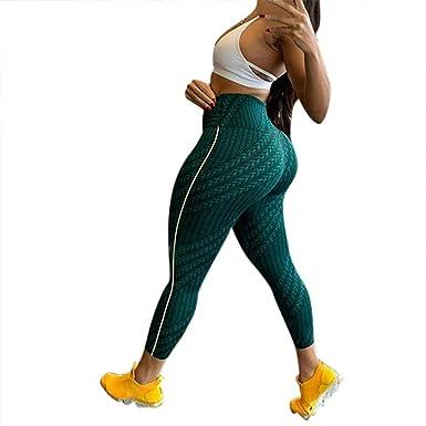 057ae729caa17 SGMORE ❤ Women's Workout Running Capris Leggings Pocket Tummy Control High  Waist Yoga Pants Green