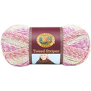 Lion Brand Yarn 753-211 Tweed Stripes Yarn, Luau