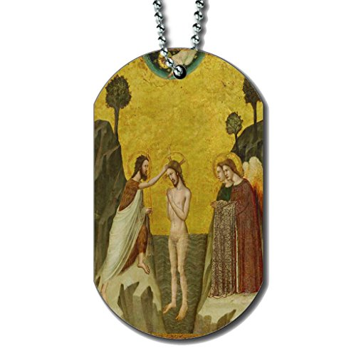 Master Of The Life Of Saint John The Baptist The Baptism Of Christ - Dog Tag Necklace