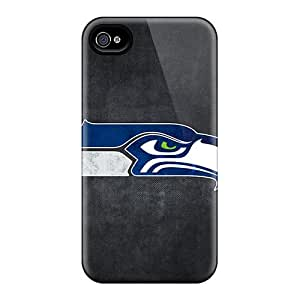 Scratch Protection Hard Phone Covers For Iphone 4/4s With Custom Lifelike Seattle Seahawks 8 Pictures CharlesPoirier