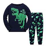 Kids Boys Pajamas Dinosaur Toddler Clothes Long Sleeve PJS Set Sleepwear 100% Cotton 2 Piece Nightwear 2-7T