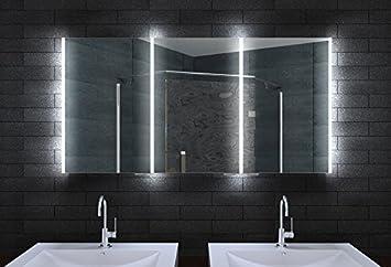 alu badschrank badezimmer spiegelschrank bad led beleuchtung 140x70cm mla14700