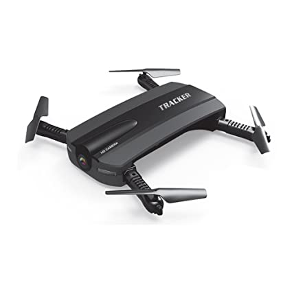 JXD 523 Tracker Foldable Selfie Quadcopter Drone with Hd Camera, Wifi,  Altitude Hold, 19x19x2 8cm (Black)