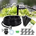 Hiraliy 50ft 15m Drip Irrigation Kits 1 4 Blank Distribution Tubing Plant Watering System Diy Saving Water Automatic Irrigation Equipment Set For Patio Lawn Garden Greenhouse Flower Bed