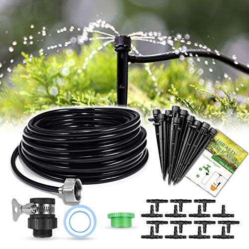 HIRALIY 50ft /15M Drip Irrigation Kits 1/4