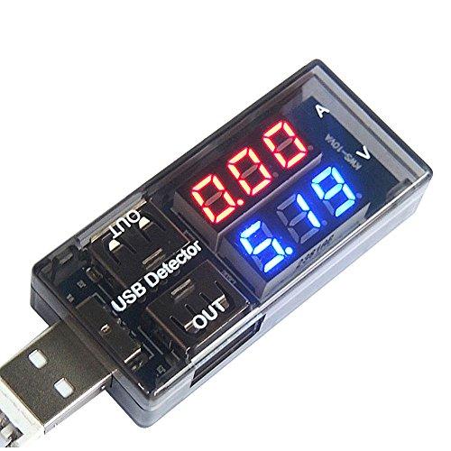 (Diymore USB Charger Doctor Current Voltage Charging Detector Battery Voltmeter Ammeter Multimeter USB Tester Mobile Power Panel Monitor Gauge DC LED Display)