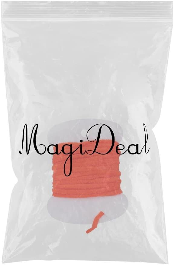 MagiDeal Fly Tying Body Materials Rayon Chenille Yarn 2mm Small 8 Colors 2m