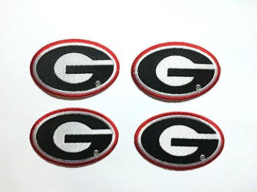 4 Georgia Bulldogs Embroidered Iron on Patch set 3.5