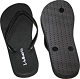 L.A. Beauty Womens Flip Flop with Glitter Straps and Comportable Footbed, Cool Looking Style-Black_8