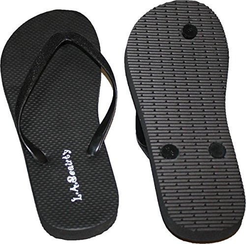 Comportable and Style Looking Flip Glitter Womens Cool Straps Footbed Flop Black With XqwSY