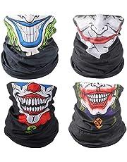 3D Face Sun Mask Neck Gaiter Headwear Magic Scarf Balaclava Bandana Headband