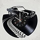 mustang car clock - FORD MUSTANG CAR Handmade Vinyl Record Wall Clock HANDCRAFTED 12 inches made from VInyl Record best decor for your kids bedroom gift for women SPORT DESIGN