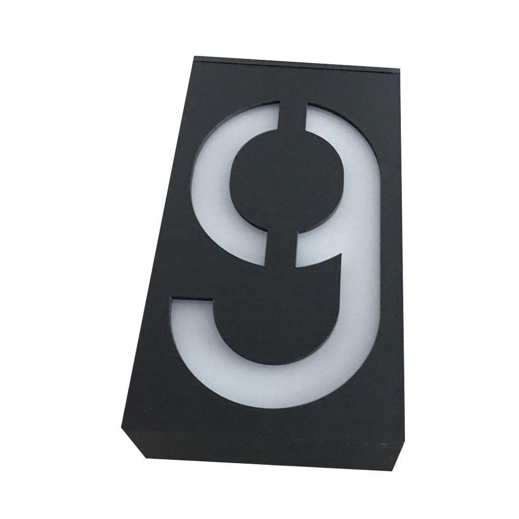 Nummer 0-9 zum ausw/ählen Nummer#0 perfeclan Speziell Solar LED Hausnummernleuchte Solarleuchte Hausnummer Au/ßenleuchte housenumber