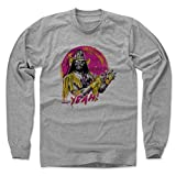500 Level Macho Man Randy Savage Long Sleeve T-Shirt M Heather Gray - Randy Savage Yeah Y - Officially Licensed by Pro Wrestling Tees