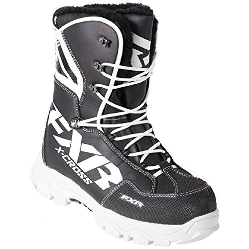 FXR X Cross Black / White Boots: Men's 11