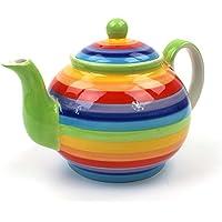 Windhorse Rainbow Teapot | Large Rainbow Teapot | Ceramic Rainbow teapot 4 cup