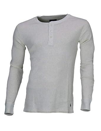 76f7dd0008cf Ralph Lauren - Polo Pull à Manche Longue pour Homme Blanc cassé  Amazon.fr   Vêtements et accessoires