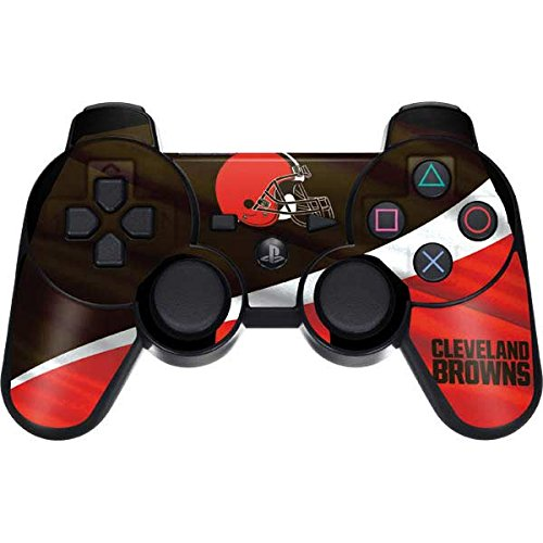 Skinit Cleveland Browns PS3 Dual Shock Wireless Controller Skin - Officially Licensed NFL Gaming Decal - Ultra Thin, Lightweight Vinyl Decal Protection
