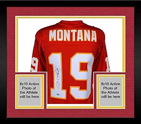 watch 56df0 bb1f3 Framed Joe Montana Kansas City Chiefs Autographed Nike ...