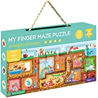 MierEdu My Finger Maze Puzzle - Underground Houses - Educational Floor Puzzle for Kids - Trace + Spot + Learn