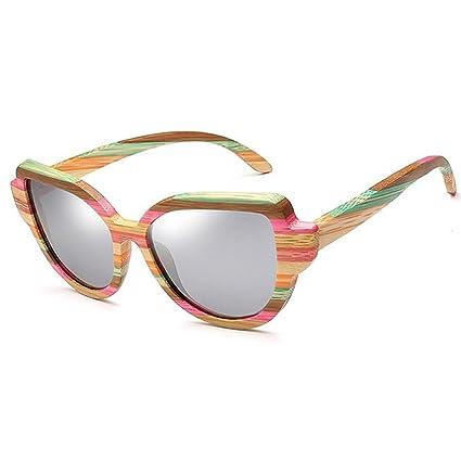Peggy Gu Rayas de Color Marco de Madera Gafas de Sol ...