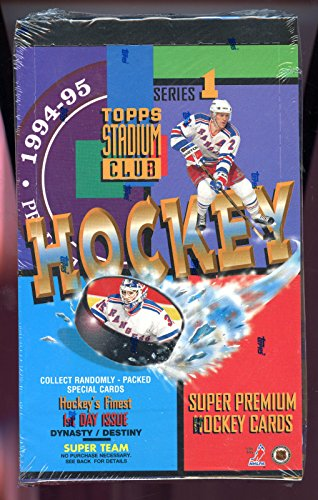 1994-95 Topps Stadium Club Series 1 One Hockey Card set Wax Pack Box 1995