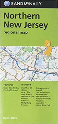Northern New Jersey Regional Map Rand McNally 9780528016387