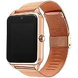 Z60 Smart Watch Steel Strap Men Women Bluetooth Wrist Smartwatch Support SIM/TF Card For