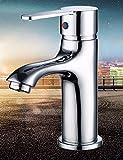SJQKA-Faucet Faucet, hot and cold mixing single hole, single handle double basin, pure copper chrome bath cabinet, basin faucet