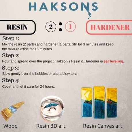 Haksons Bohri Ali High Gloss Epoxy Resin and Hardener (300 ml, Transparent)