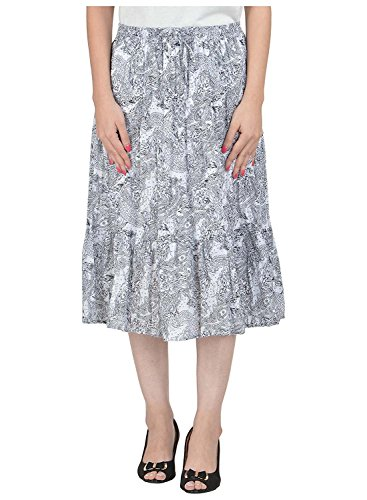 Cotton Breeze Women's A-Line Skirt (White)