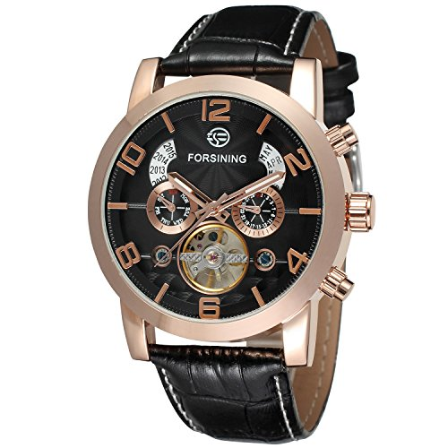 Forsining Men's Automatic Tourbillon Watch FSG165M3G2 (Ben And Sons Mens Watch)