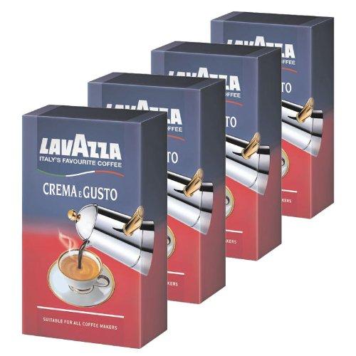 Lavazza Crema e Gusto, Café Molido, también para Cafeteras italianas, Pack de 4, 4 x 250g