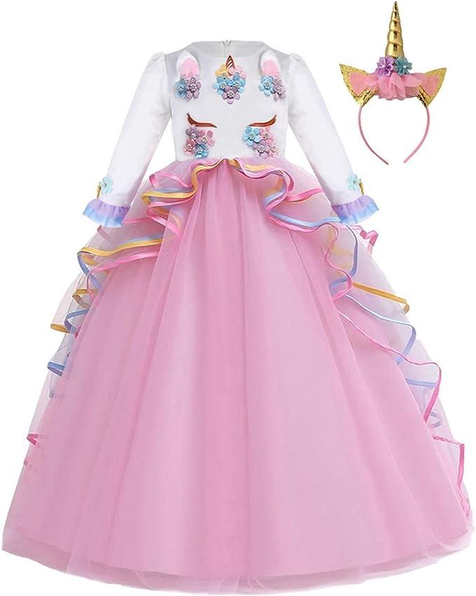 Amazon.com: MYRISAM - Disfraz de unicornio de princesa, para ...
