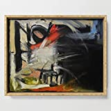 Society6 Serving Tray with handles, 18'' x 14'' x 1 3/4'', Night Window (oil on canvas) by antonioortiz