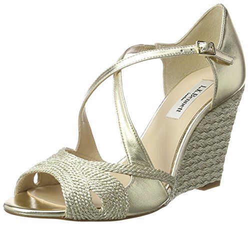 Gold Juliette BENNETT Sandals Heels LK soft Women's Gold Wedge F4RwqgYz