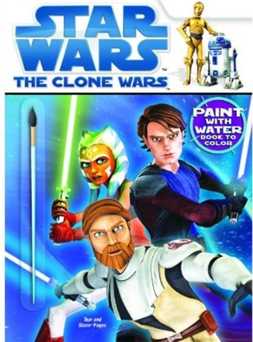 Download Star Wars: The Clone Wars Paint with Water Book to Color (Star Wars (Dalmatian Press)) pdf