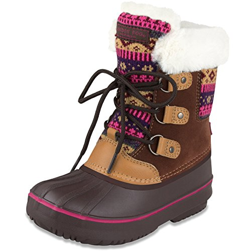 London Fog Girls Tottenham Cold Weather Snow Boot BR/FUS for sale  Delivered anywhere in USA