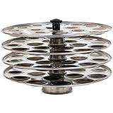 Hazel Mini Idli Plate ( 4 Plate)- 18 Idlies Per Plate,Stainless Steel,Silver