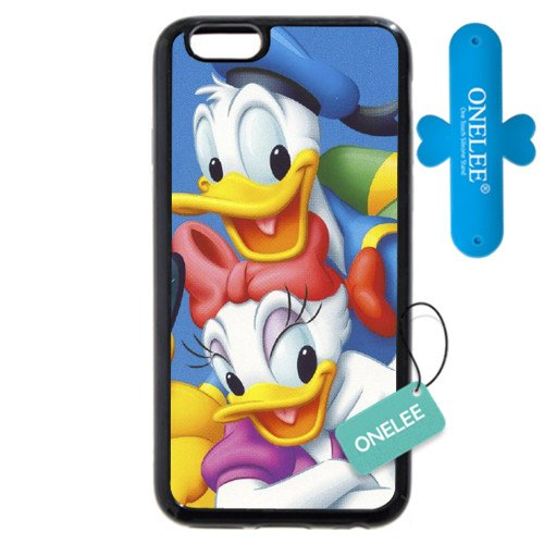"""Customized Black Soft Rubber(TPU) Disney Donald Duck iPhone Plus 5.5 Case, Only fit iPhone 6+ 5.5"""""""