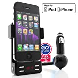 Premium Car Mount / Charger / FM Transmitter for all Generations of AT&T and Verizon Apple iPhone and iPod