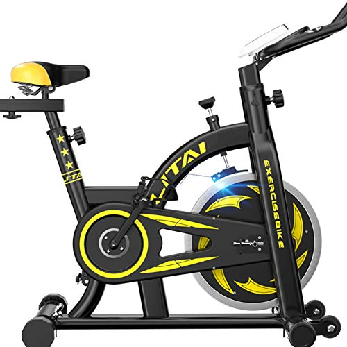 Electric oven Exercise Bike Indoor, Resistance Exercise Home Gym Cardio Fitness Machine Upright Bike (Color : Black)