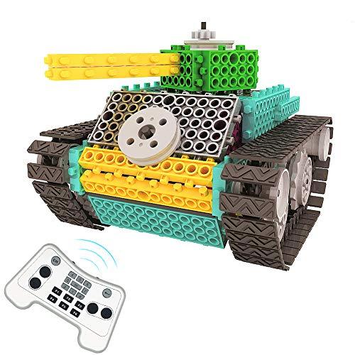 PETUOL Remote Control Building Kits, 145PCS STEM Remote Control Building Blocks Toys for Boys Girls Age 5 6 7 8 9 10 Gift - DIY Tank Robot Fun for Kids Toys