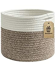 """INDRESSME Small Basket - Cotton Rope Basket Woven Basket for Keys, Sunglasses Toy Basket Wallet by Front Door Small Storage Bin for Remote Controls on Nightstand Fruit Basket in Kitchen, 9.4""""Dx7.1""""H"""