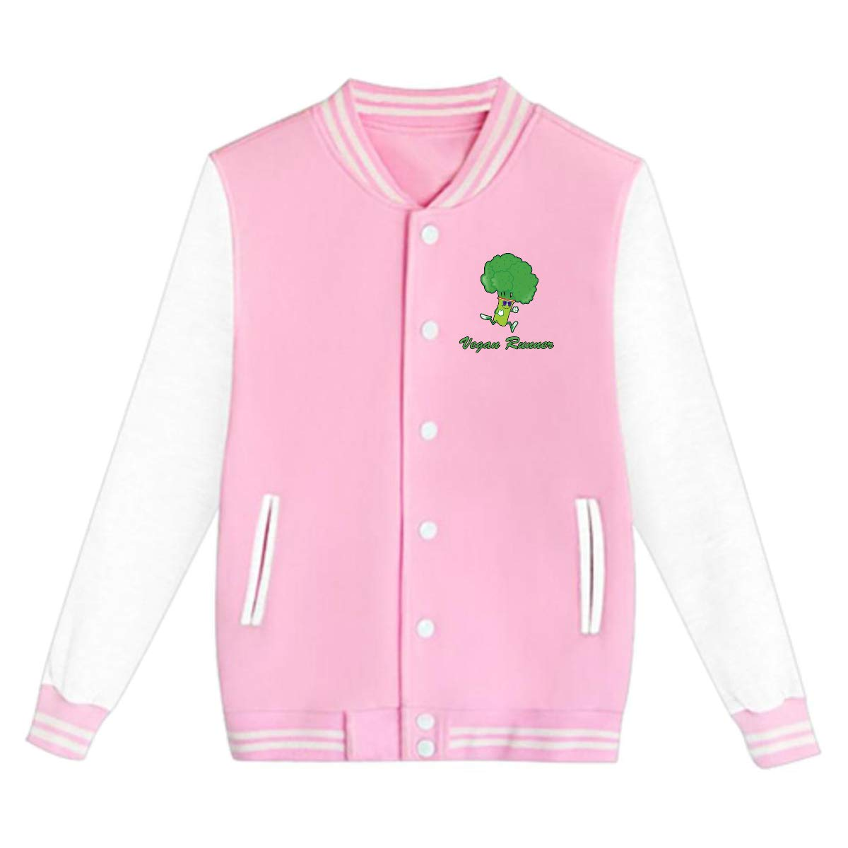 Bing4Bing Funny Vegan Runner Teens Coats Boys Or Girls Casual Baseball Jacket//Uniform Team Jackets Winter Coats