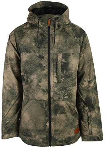 Oakley Men's Funitel Bio Zone Shell Jacket, Herb Smoke, - Shell Oakley