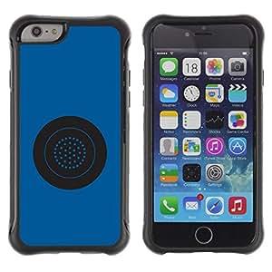 Suave TPU GEL Carcasa Funda Silicona Blando Estuche Caso de protección (para) Apple Iphone 6 / CECELL Phone case / / Blue Button Circle Star System Grey /